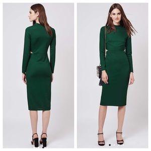 Topshop Dresses Long Sleeve Cutout Midi Dress Size 4 Poshmark